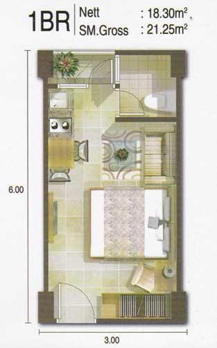 Jual    Sewa Apartemen Green Bay Pluit   2 Br
