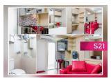 Disewakan Harian / Mingguan / Bulanan / Tahunan Apartemen Kalibata City - 2 BR 35 m2 Fully Furnished