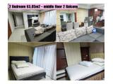 Disewa Studio, 1 Bedroom & 2 Bedroom