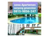 Sewa Harian / Transit Apartemen Serpong Greenview BSD City Tangerang Selatan, Mulai 100K